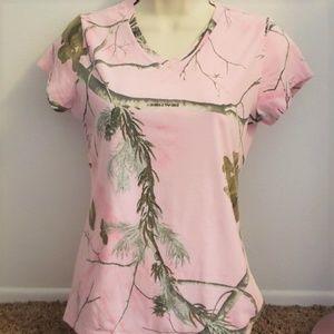 Realtree Camo Pink Small T Shirt Top